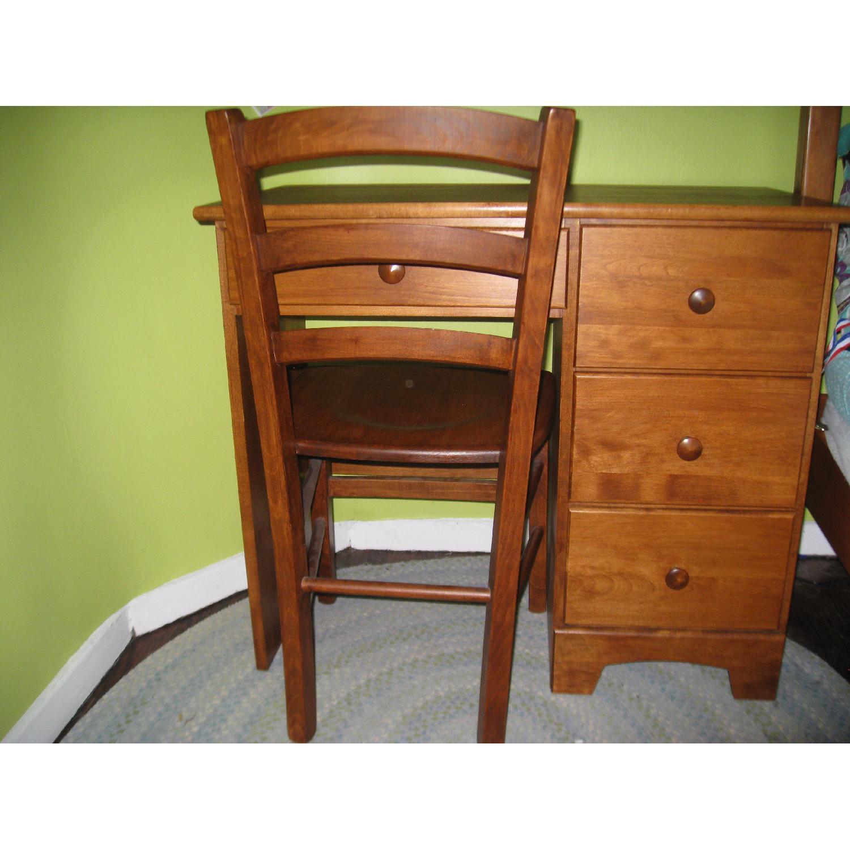Birch Wood Desk w/ Chair - image-2