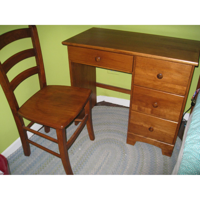 Birch Wood Desk w/ Chair - image-3