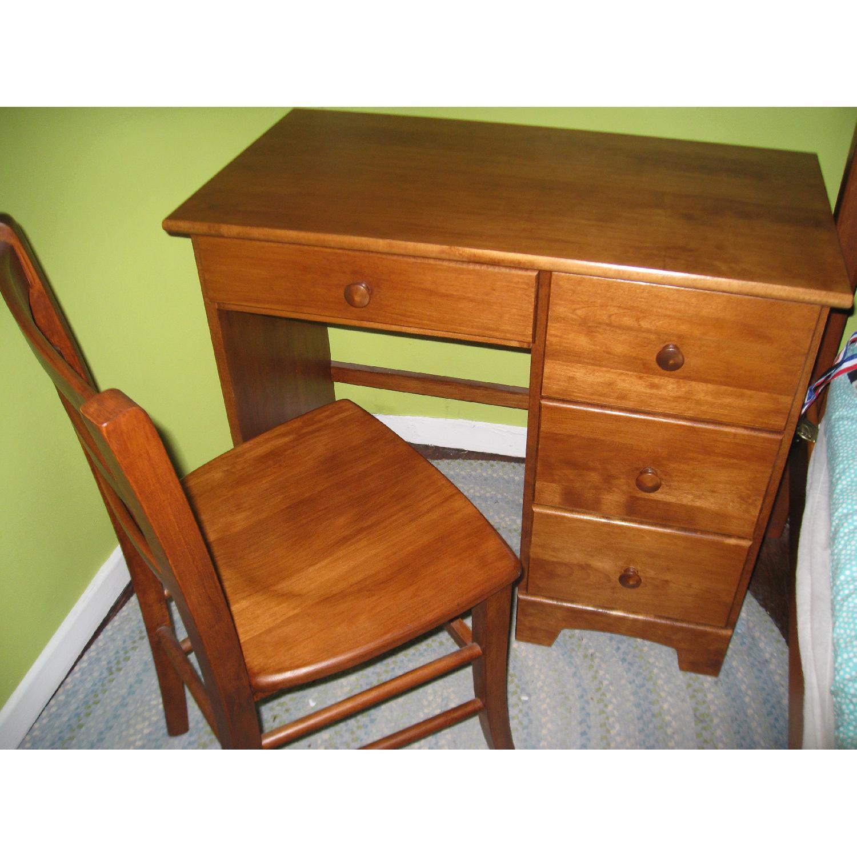 Birch Wood Desk w/ Chair - image-4