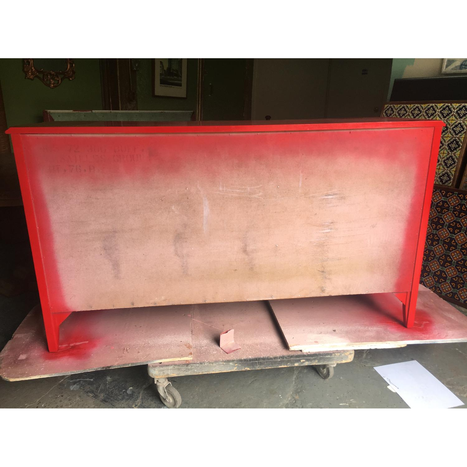 Solid Maple Wood Chinese Red Sideboard - image-2
