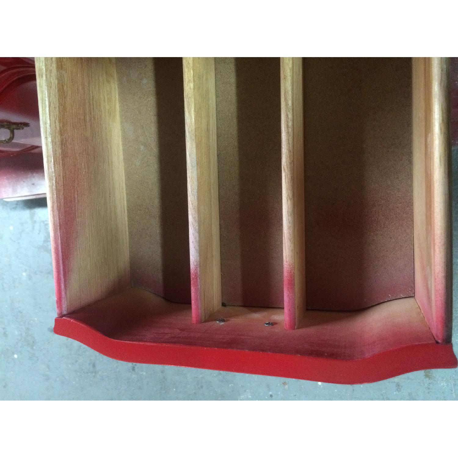 Solid Maple Wood Chinese Red Sideboard - image-8