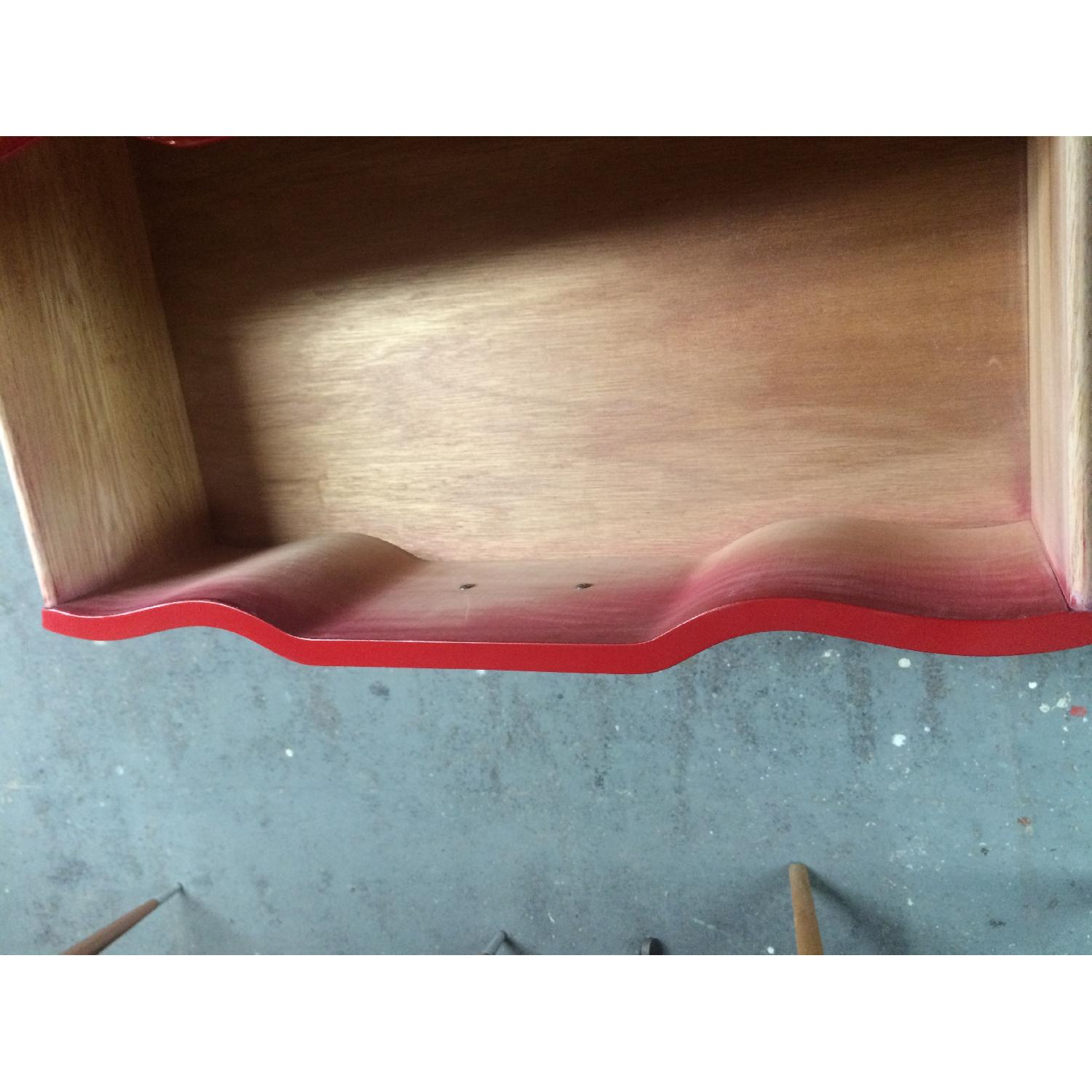 Solid Maple Wood Chinese Red Sideboard - image-9