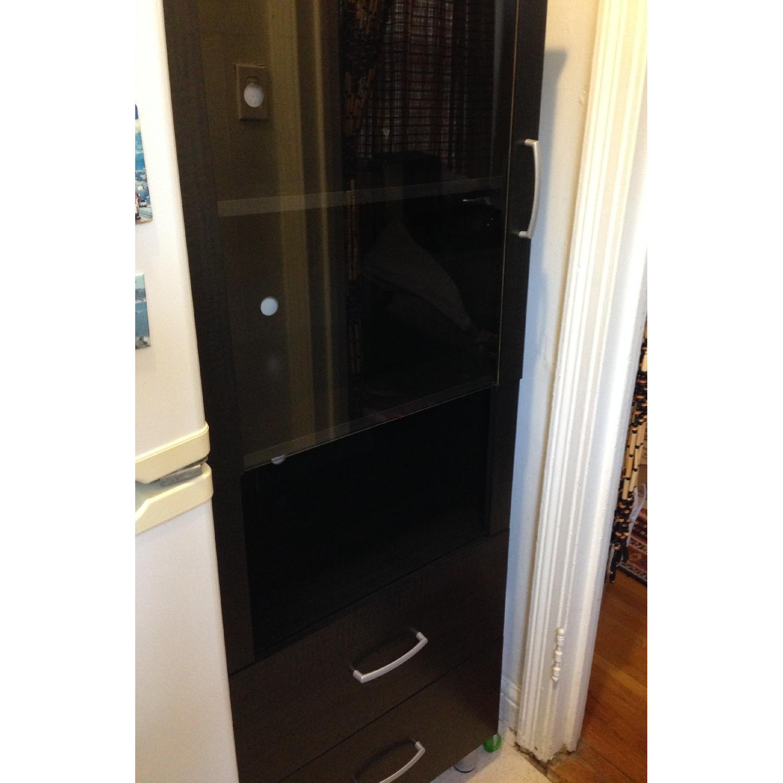 South Shore Furniture Cosmos Bookcase Shelf w/ Glass Door - image-4
