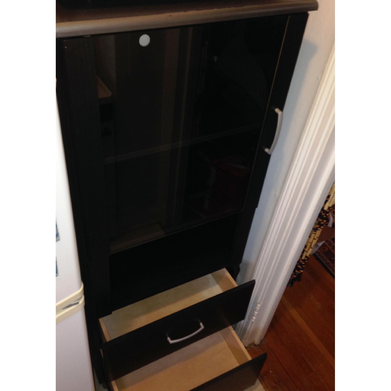 South Shore Furniture Cosmos Bookcase Shelf w/ Glass Door - image-5