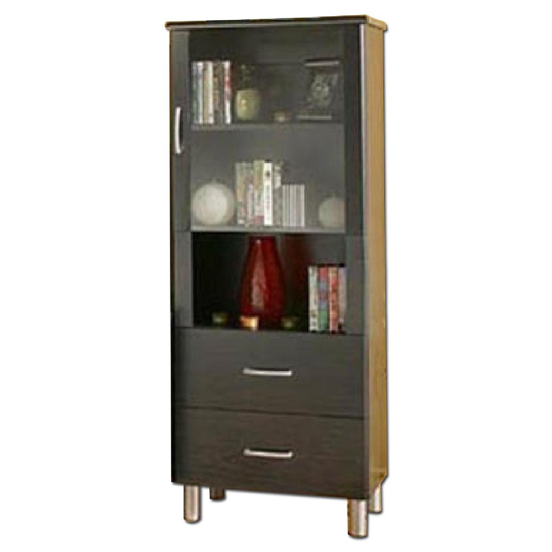 South Shore Furniture Cosmos Bookcase Shelf w/ Glass Door - image-0