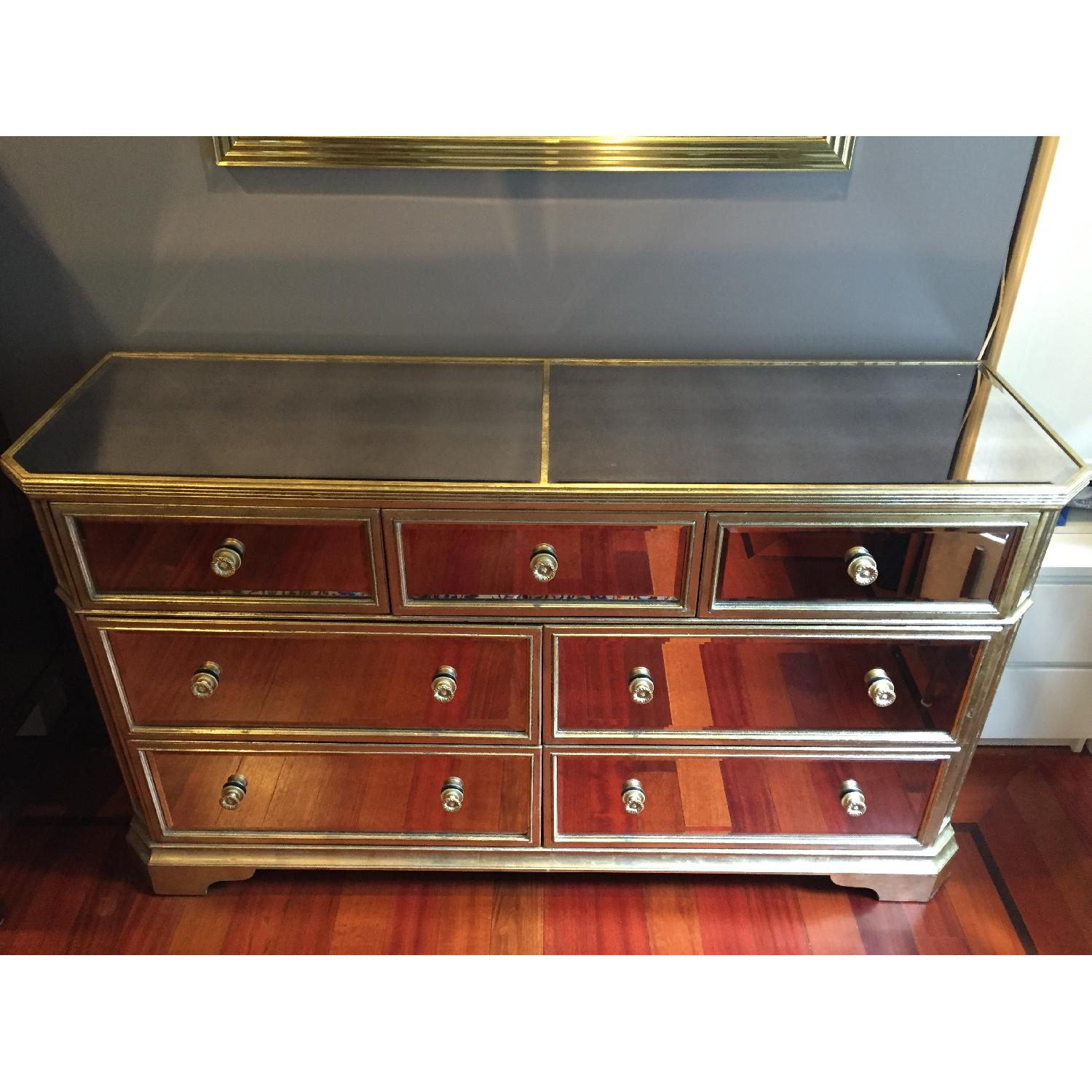 Z Gallerie Borghese Mirrored 7 Drawer Chest - image-4