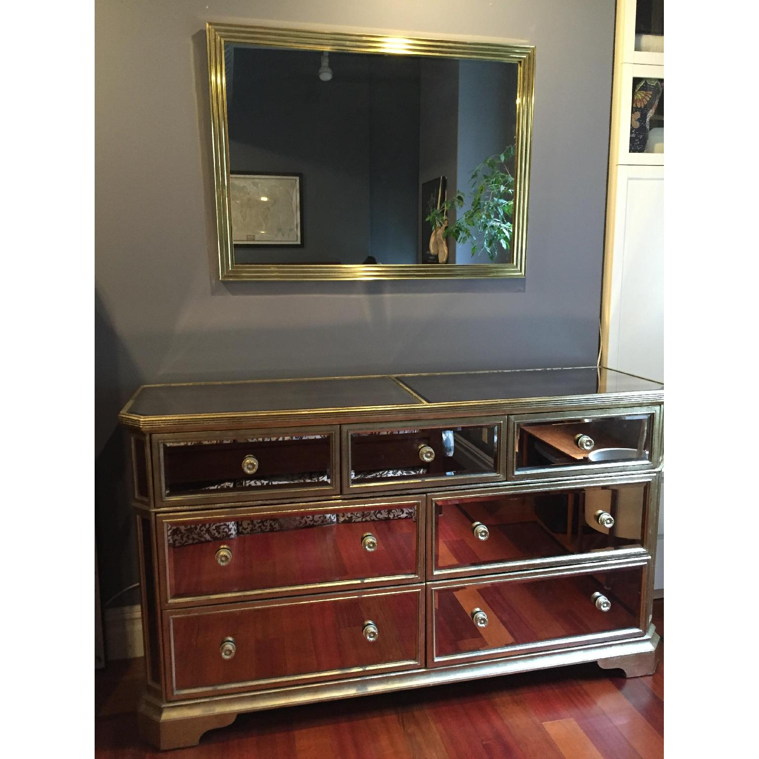 Z Gallerie Borghese Mirrored 7 Drawer Chest - image-6