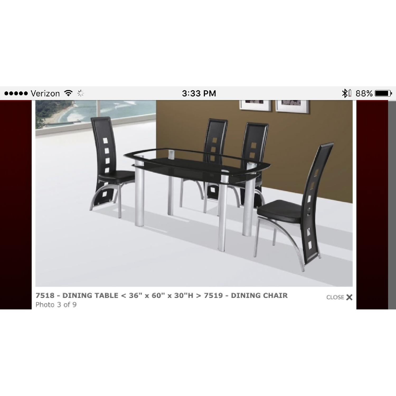 Modern Glass Table w/ 4 Chairs - image-1