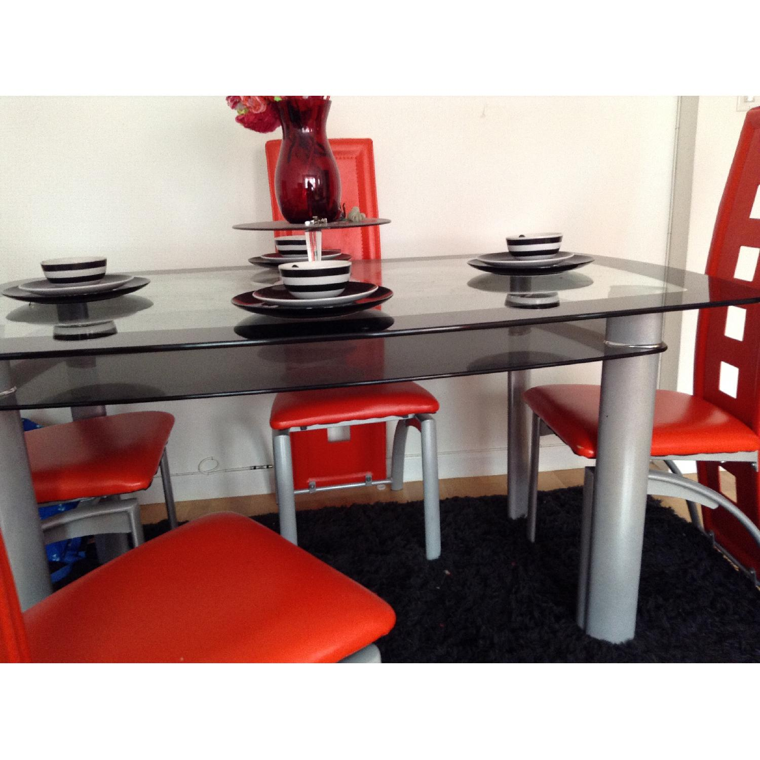 Modern Glass Table w/ 4 Chairs - image-3