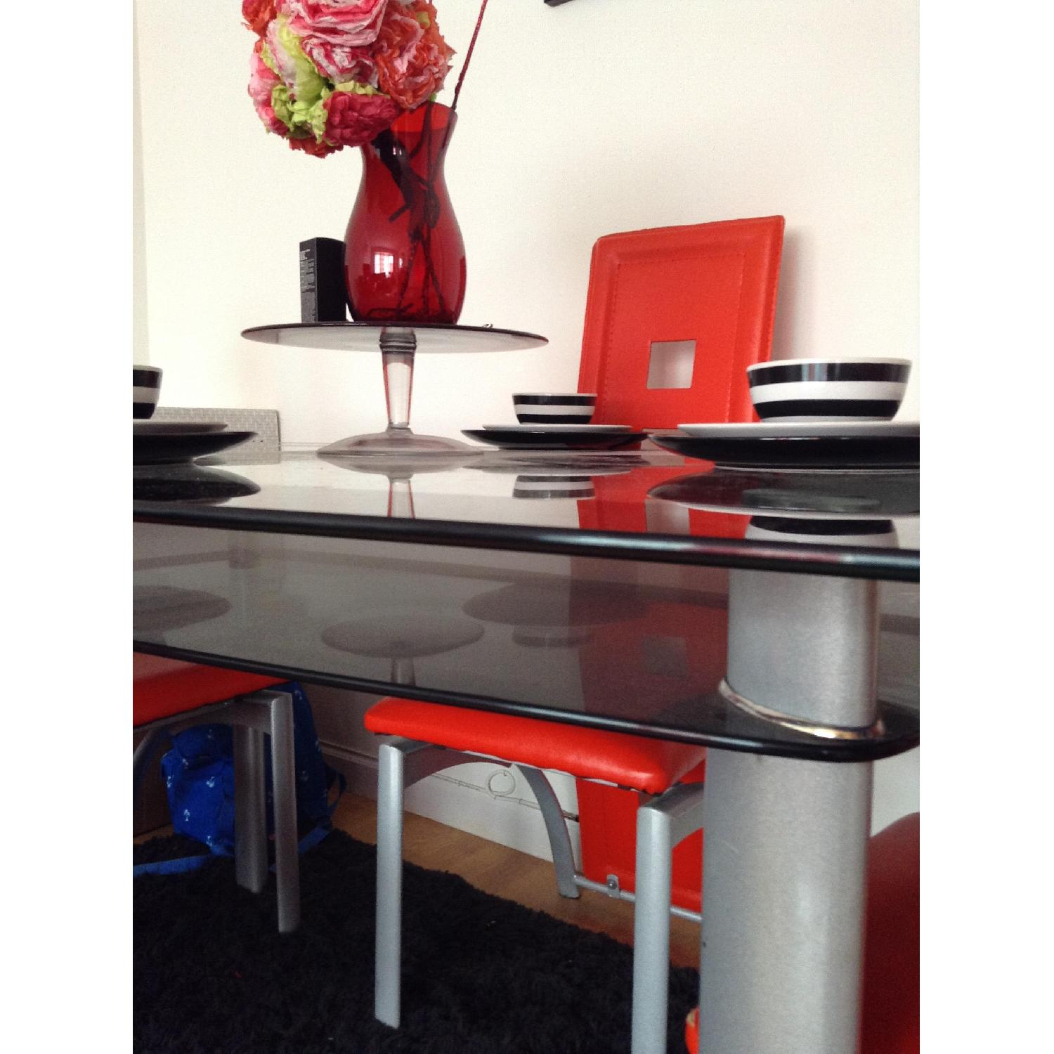 Modern Glass Table w/ 4 Chairs - image-4