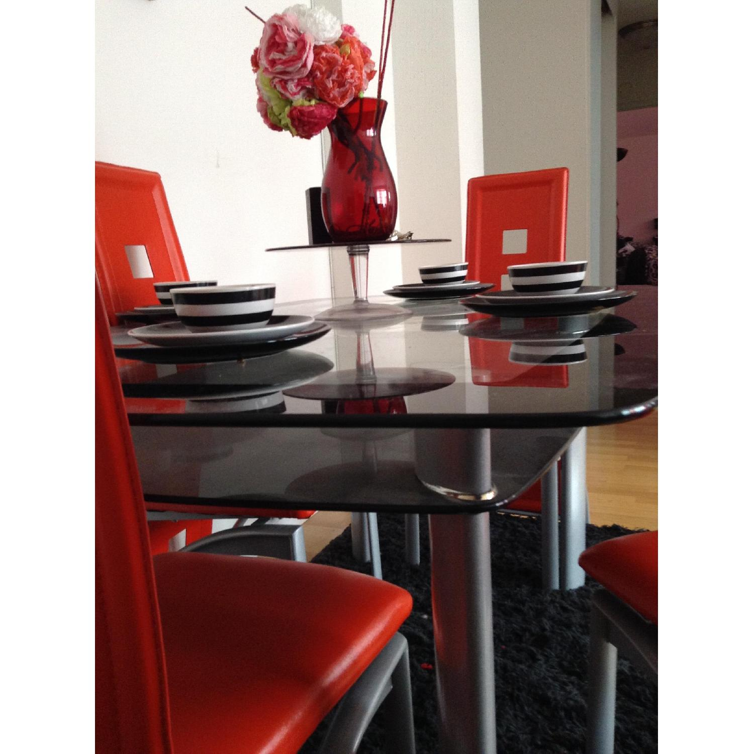 Modern Glass Table w/ 4 Chairs - image-5