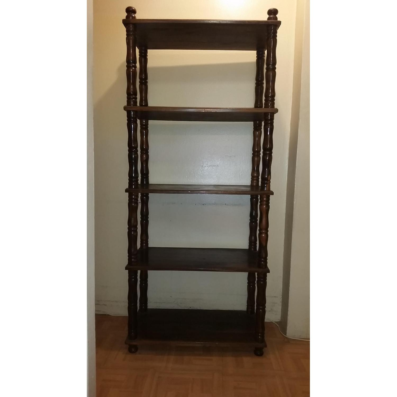 Chestnut Brown Wood Display Shelf - image-1