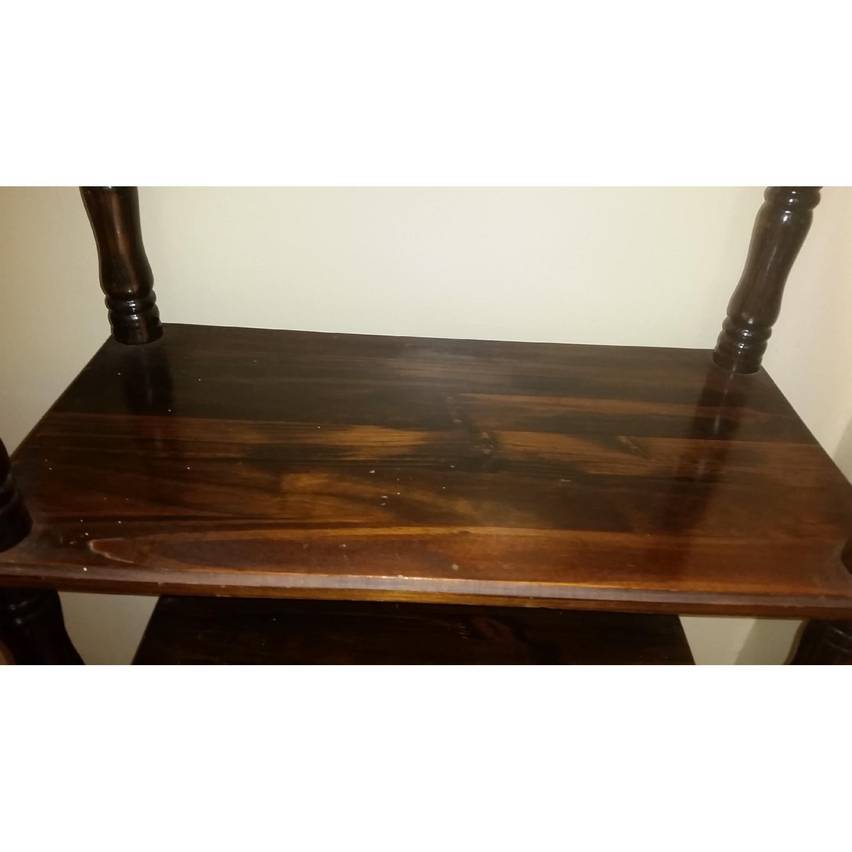 Chestnut Brown Wood Display Shelf - image-2