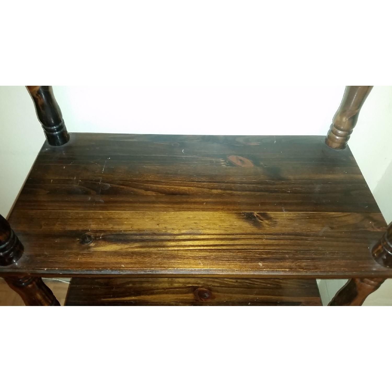 Chestnut Brown Wood Display Shelf - image-3