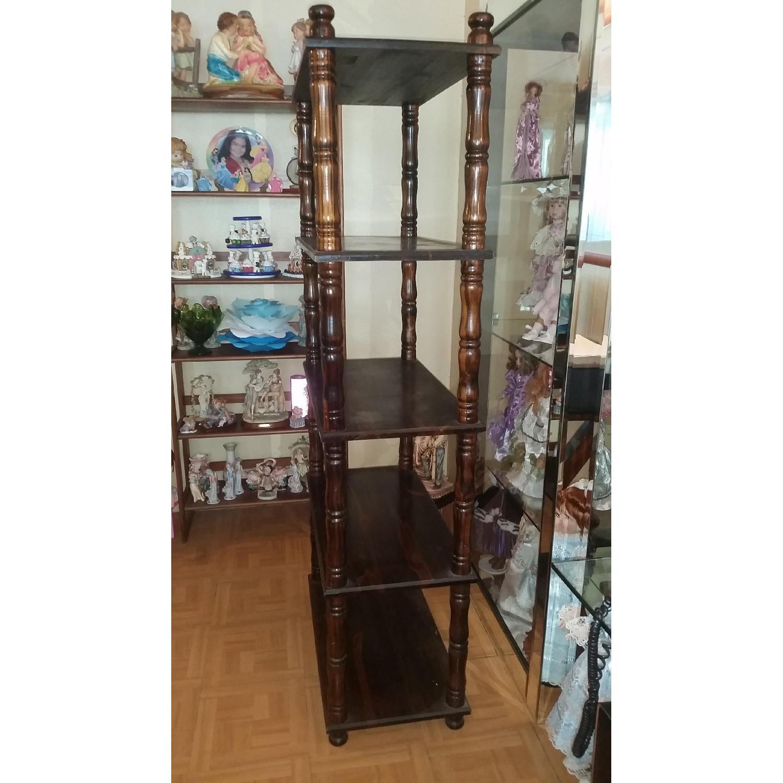 Chestnut Brown Wood Display Shelf - image-4