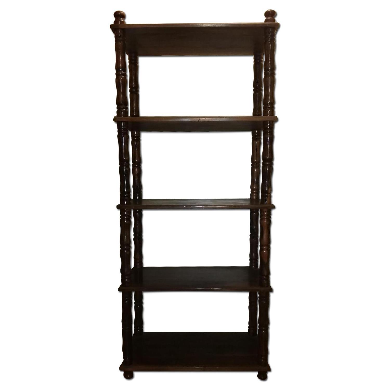 Chestnut Brown Wood Display Shelf - image-0