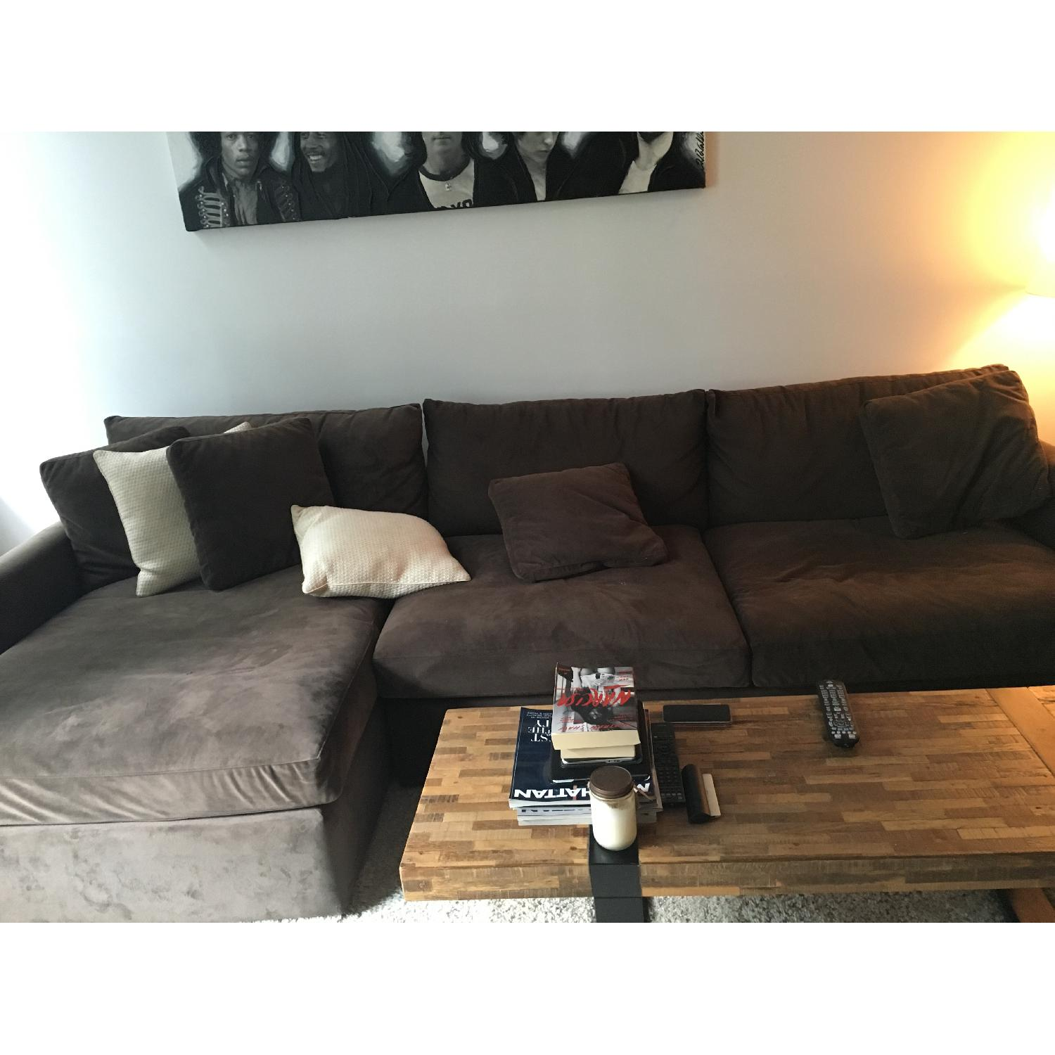 Crate & Barrel Lounge Sectional w/ Chaise - image-1