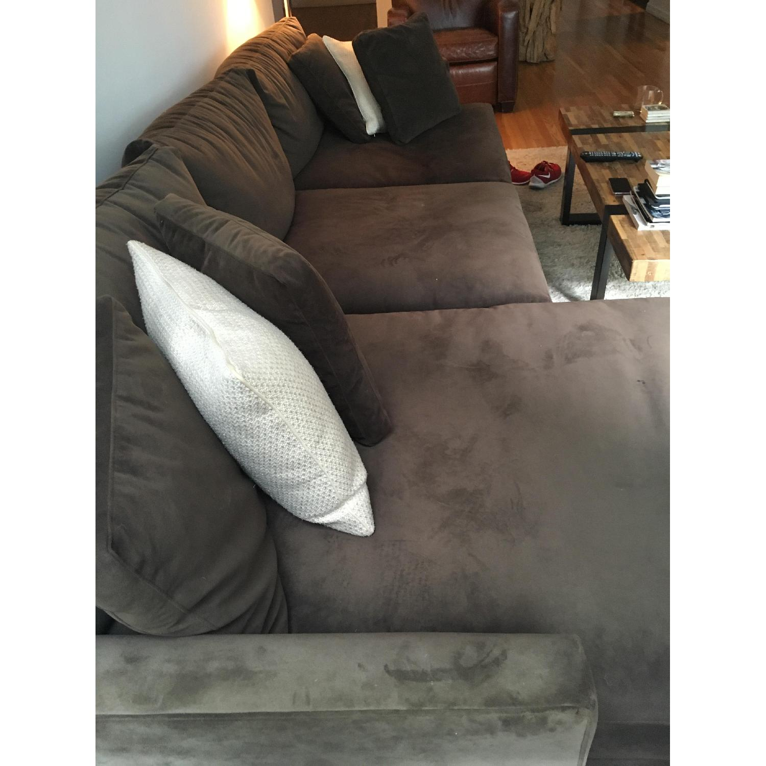 Crate & Barrel Lounge Sectional w/ Chaise - image-3