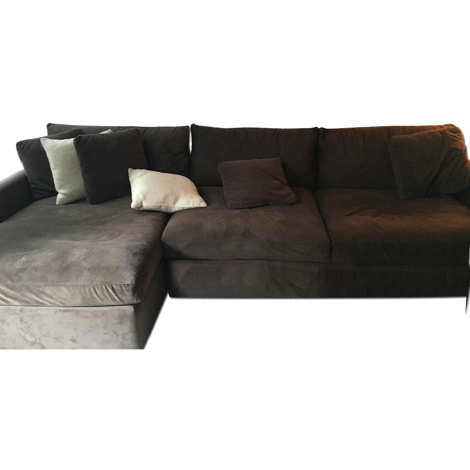 Crate & Barrel Lounge Sectional w/ Chaise - image-0