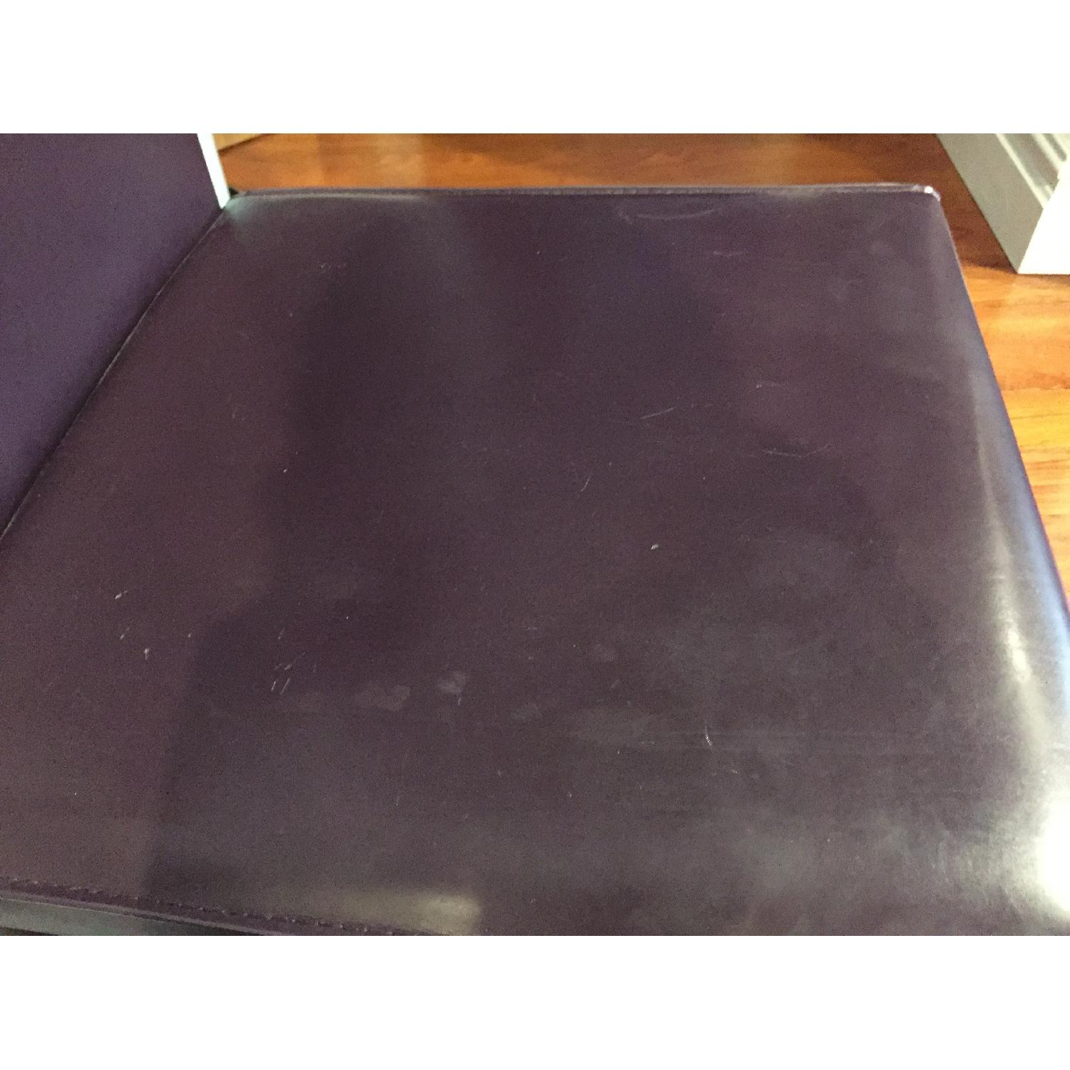 Maria Yee Leather Side Chair in Plum - Pair - image-5