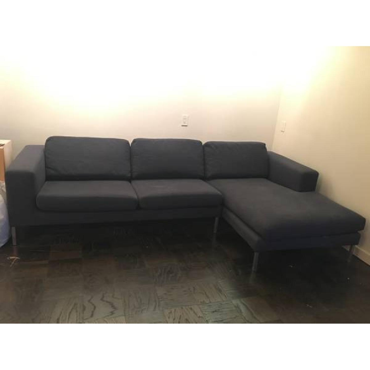 Design Within Reach Sectional w/ Chaise + Armchair - image-1