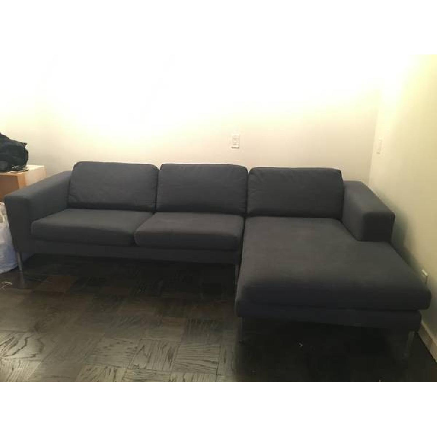 Design Within Reach Sectional w/ Chaise + Armchair - image-2