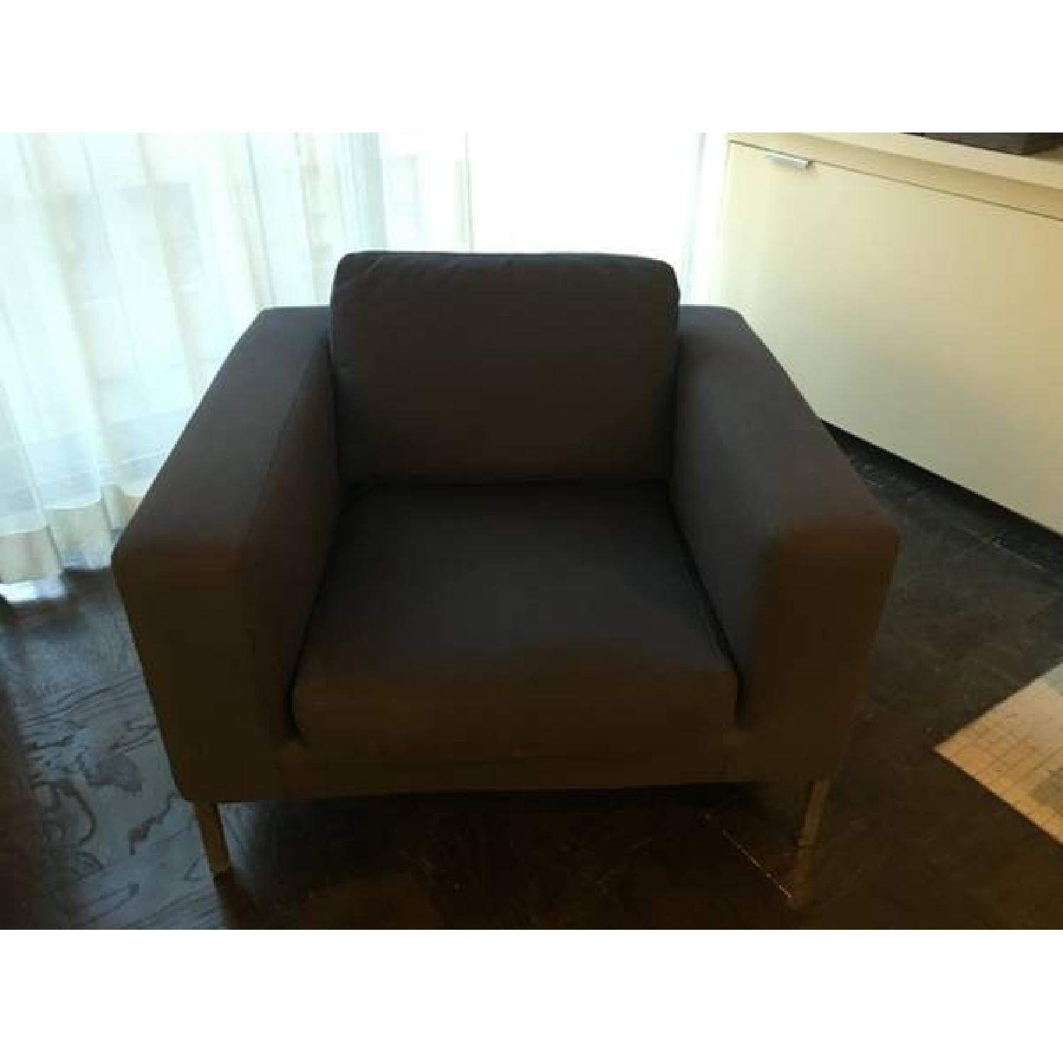 Design Within Reach Sectional w/ Chaise + Armchair - image-3