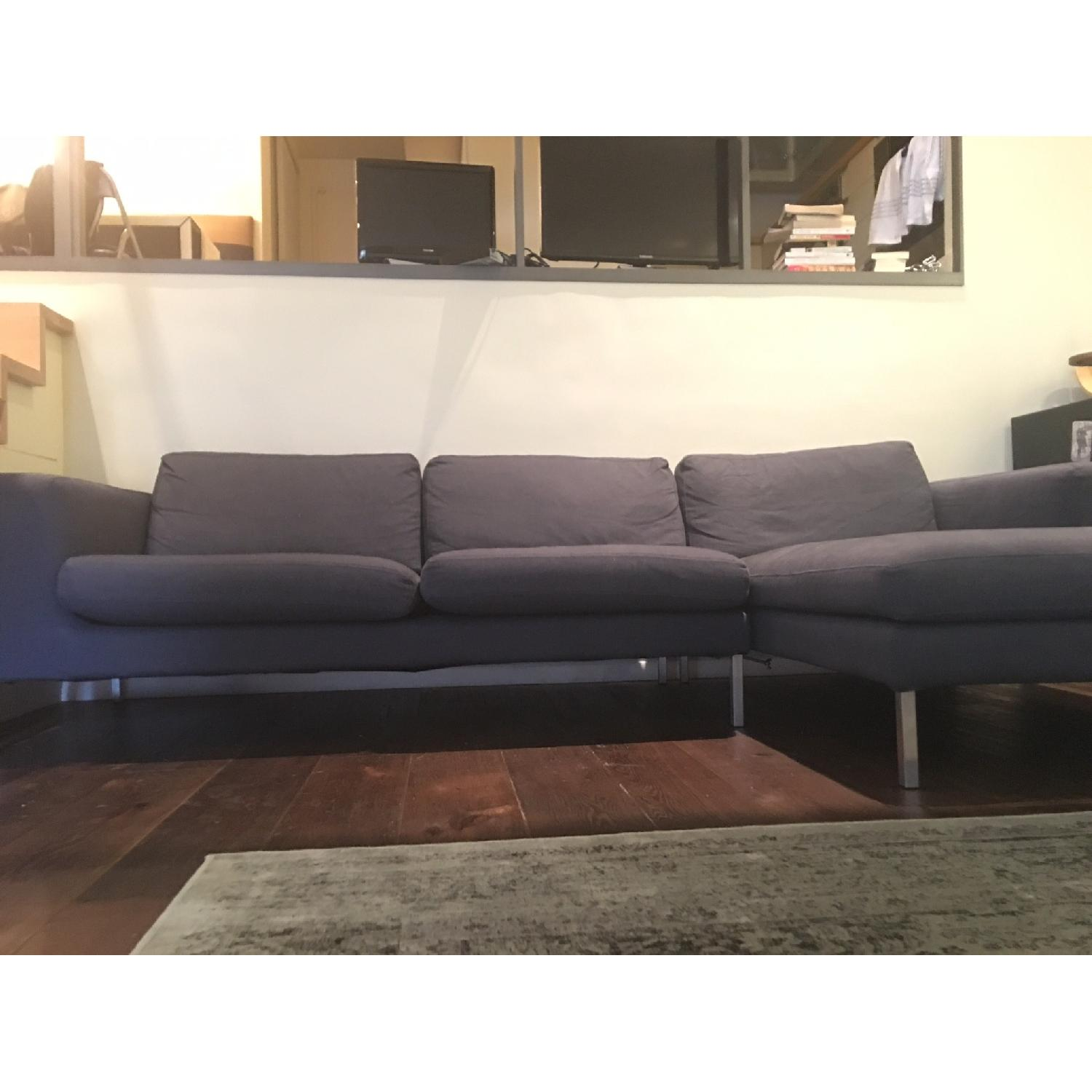 Design Within Reach Sectional w/ Chaise + Armchair - image-4