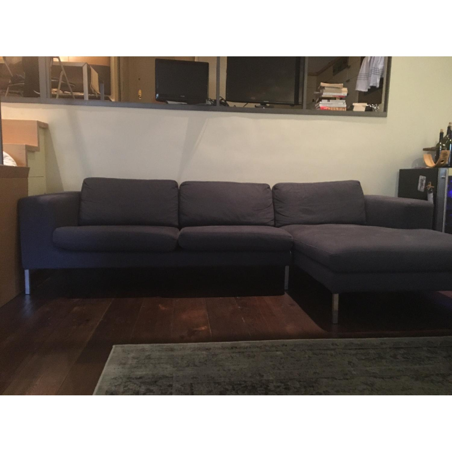 Design Within Reach Sectional w/ Chaise + Armchair - image-5