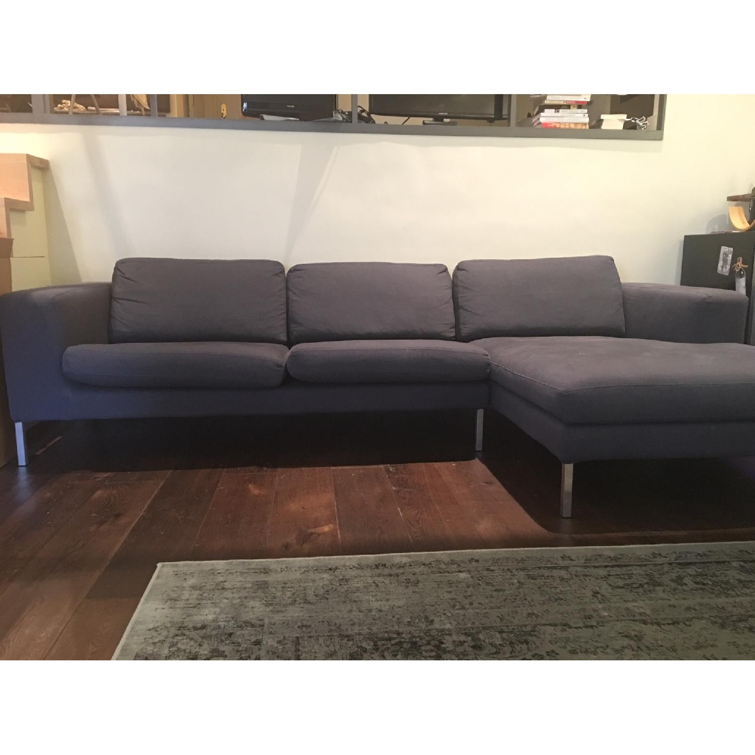 Design Within Reach Sectional w/ Chaise + Armchair - image-6