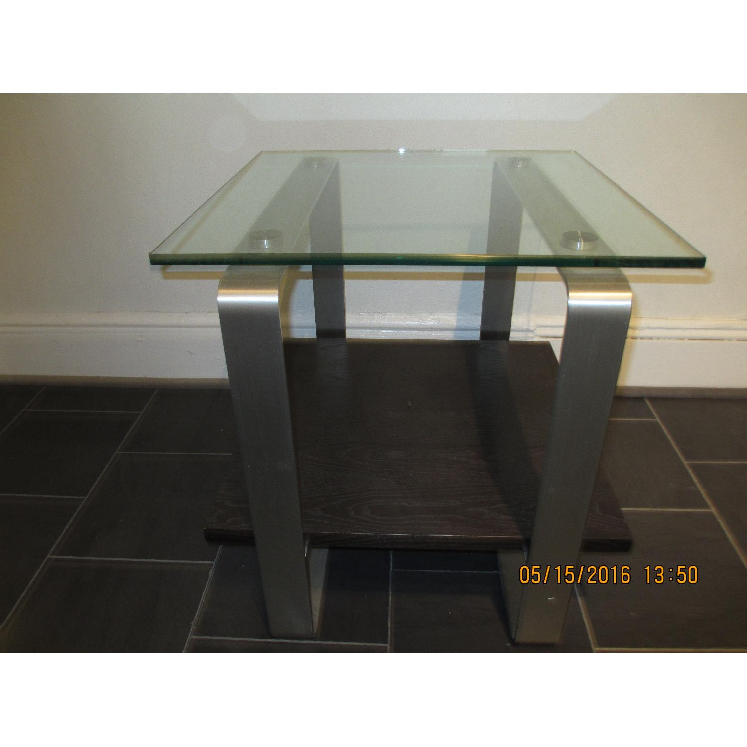 Glass Top Side Table - image-1