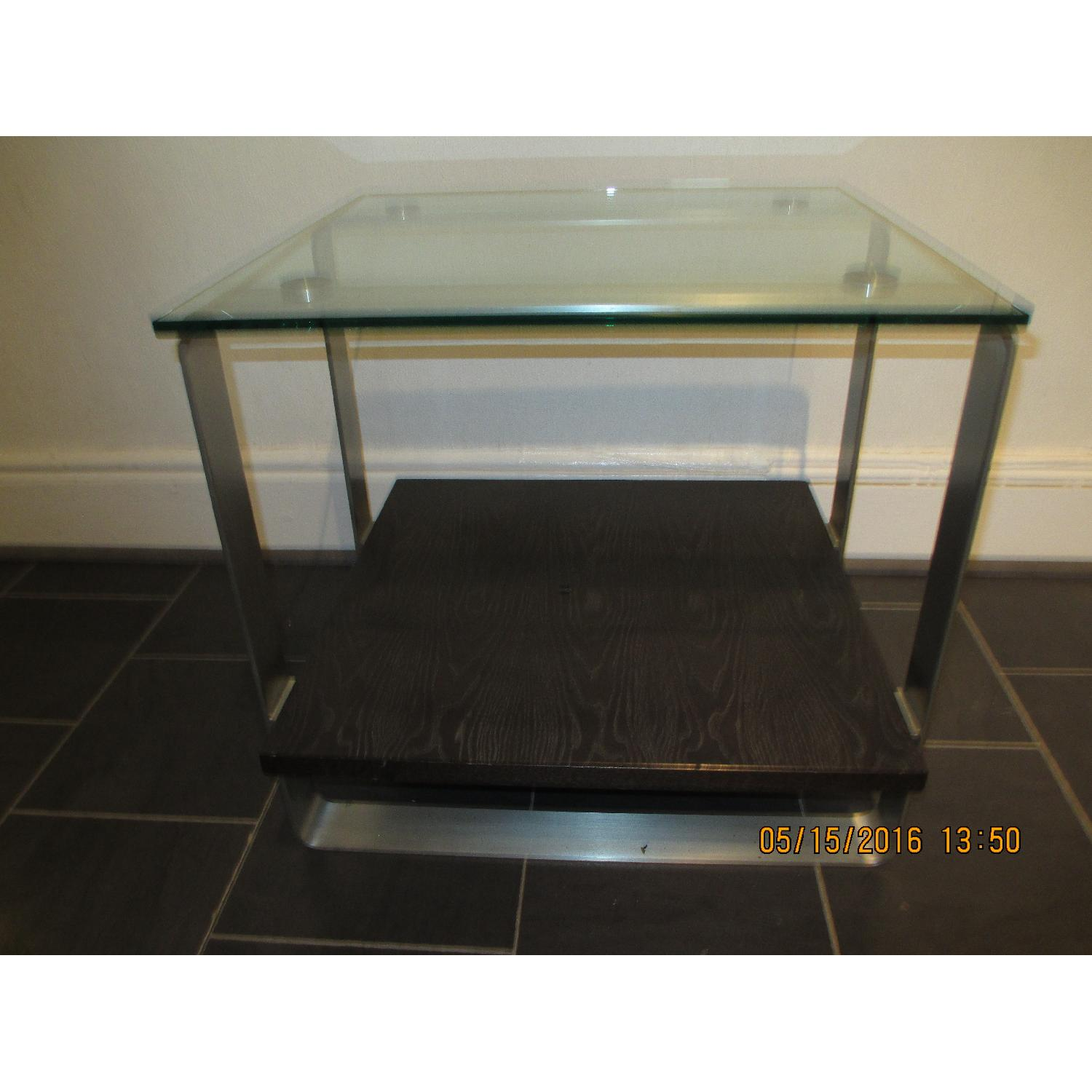 Glass Top Side Table - image-2