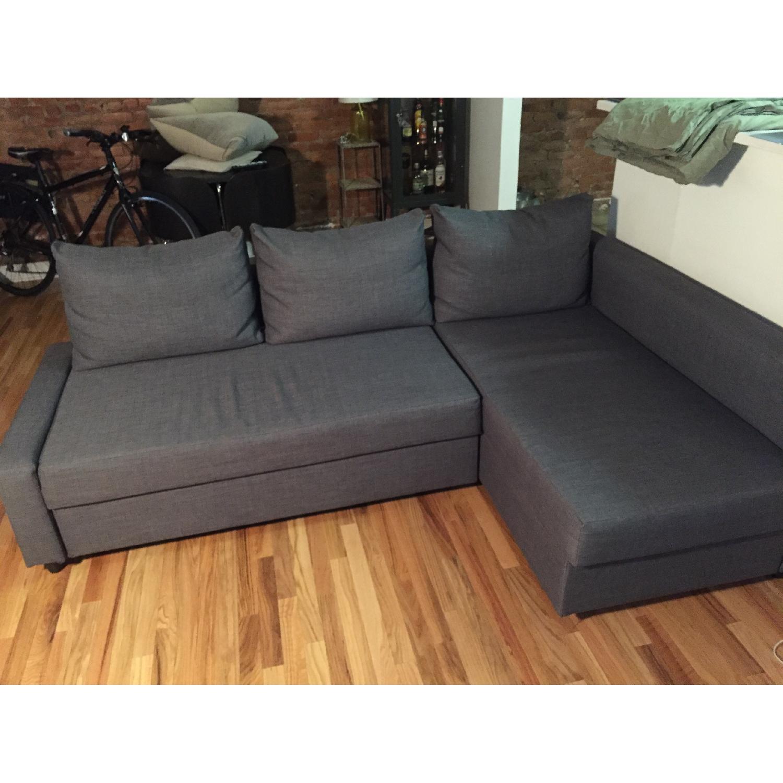 Ikea Sectional Sofa Bed w/ Storage - image-1