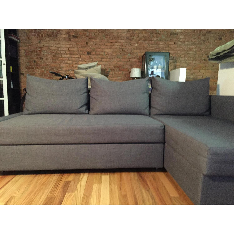 Ikea Sectional Sofa Bed w/ Storage - image-2