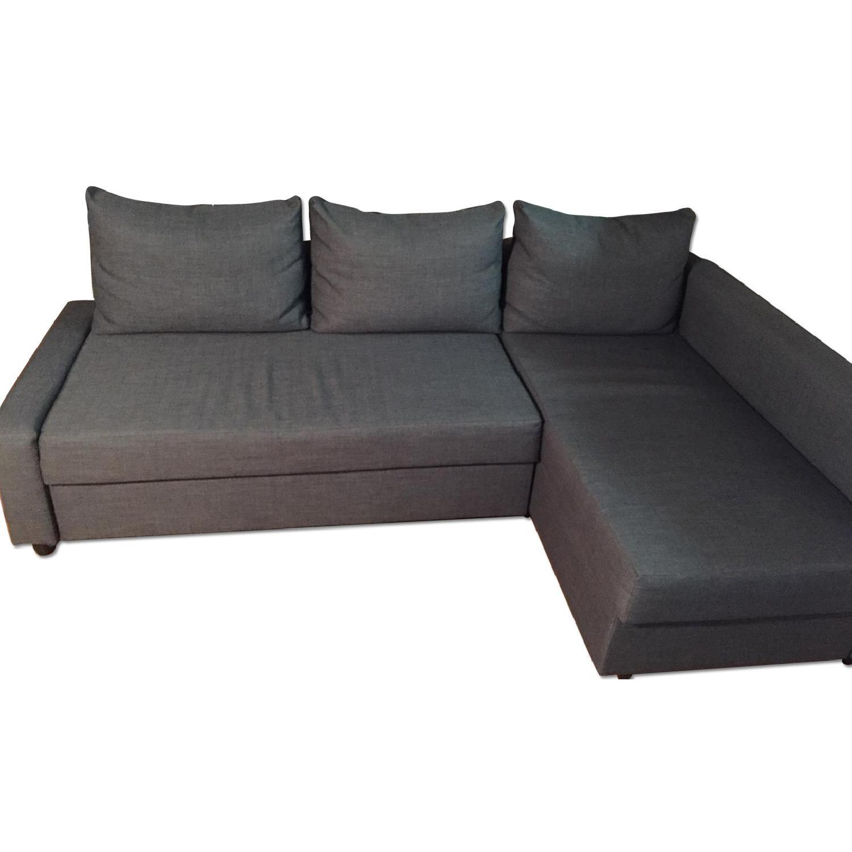 Ikea Sectional Sofa Bed w/ Storage - image-0