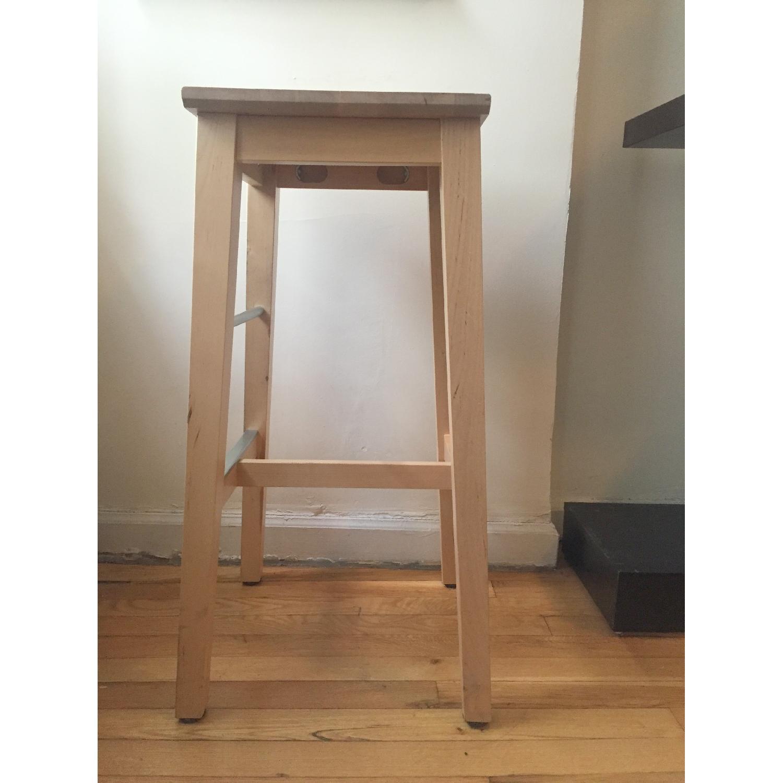 Ikea Bosse Birch Bar Stool - image-2