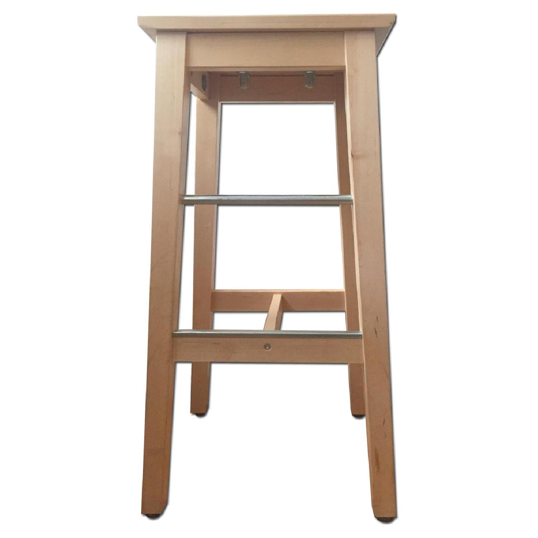 Ikea Bosse Birch Bar Stool - image-0
