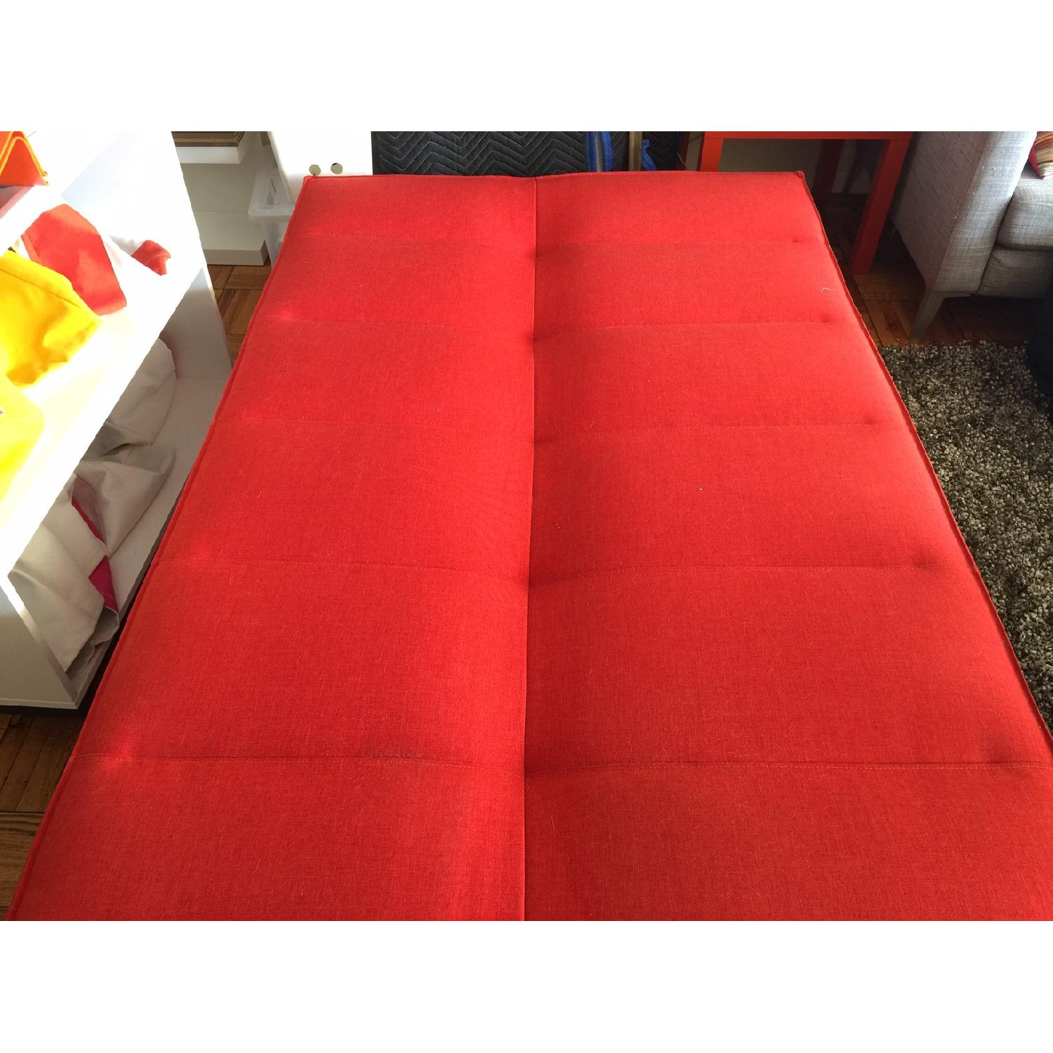 Red Fold Down Sofa Bed - image-2