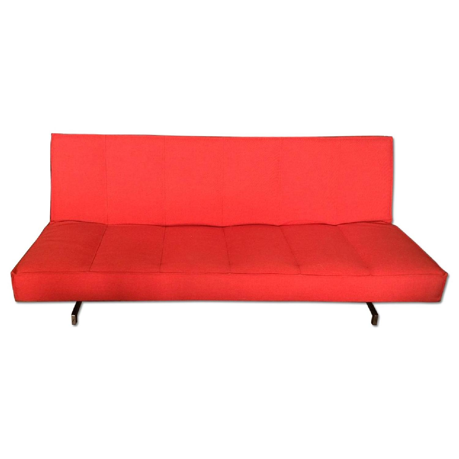 Red Fold Down Sofa Bed - image-0