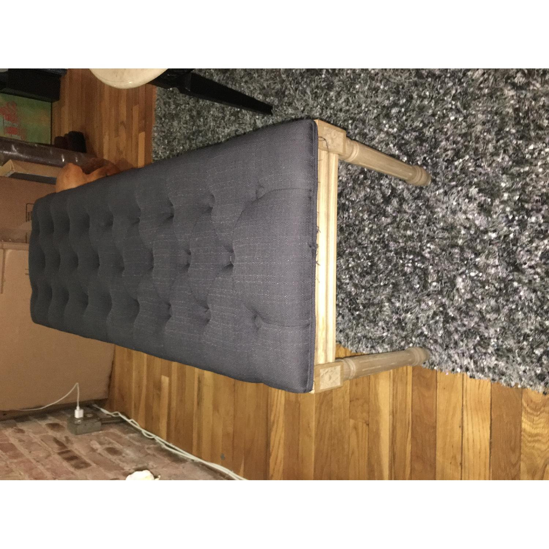 Grey Upholstered Bench - image-1