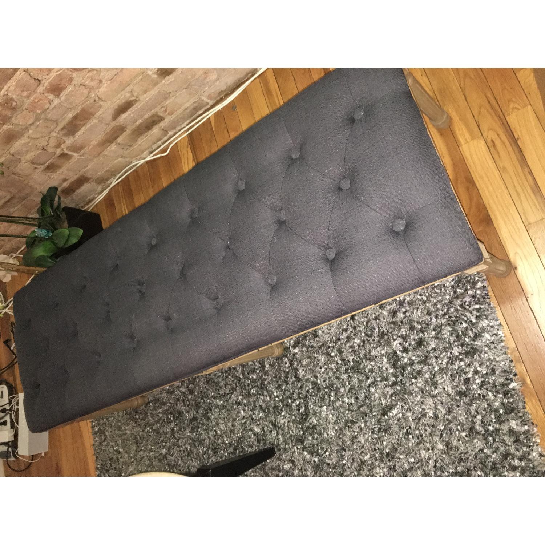 Grey Upholstered Bench - image-2