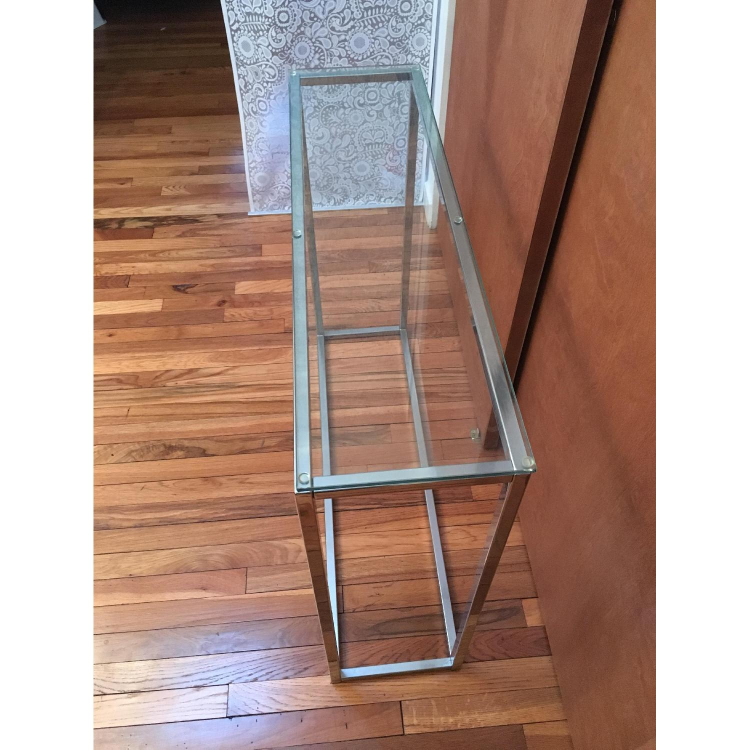 Crate & Barrel Glass Side Table - image-2