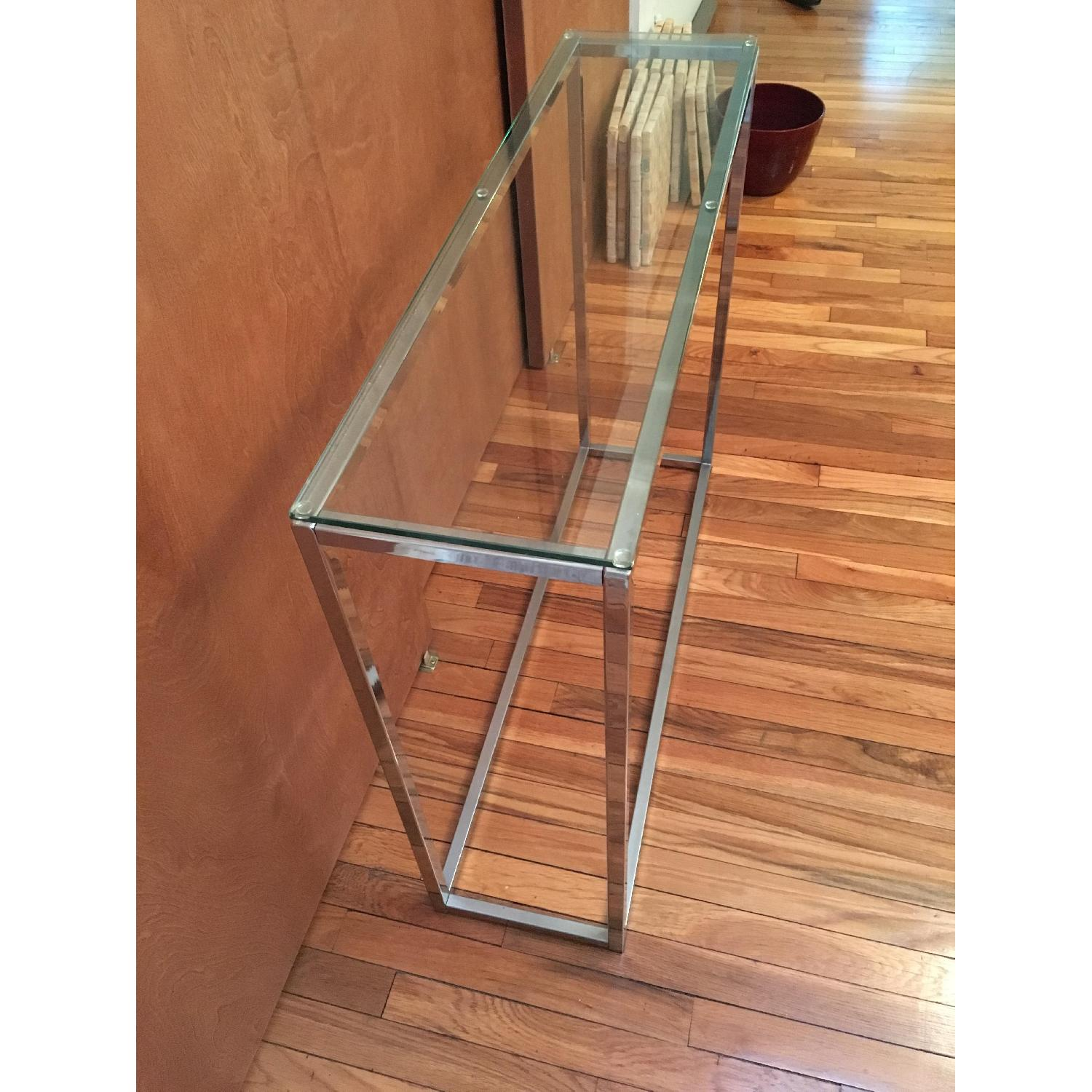Crate & Barrel Glass Side Table - image-3