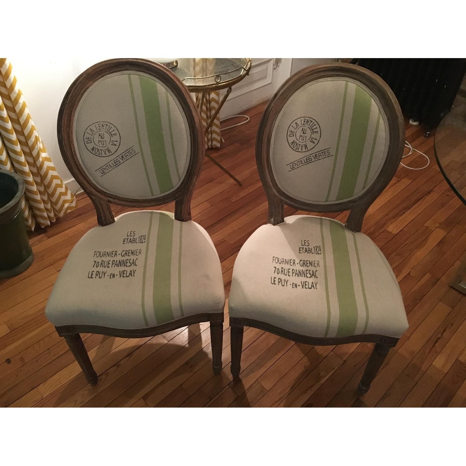 Louis XVI Boutique Design Dining Chairs - 2 Available - image-1