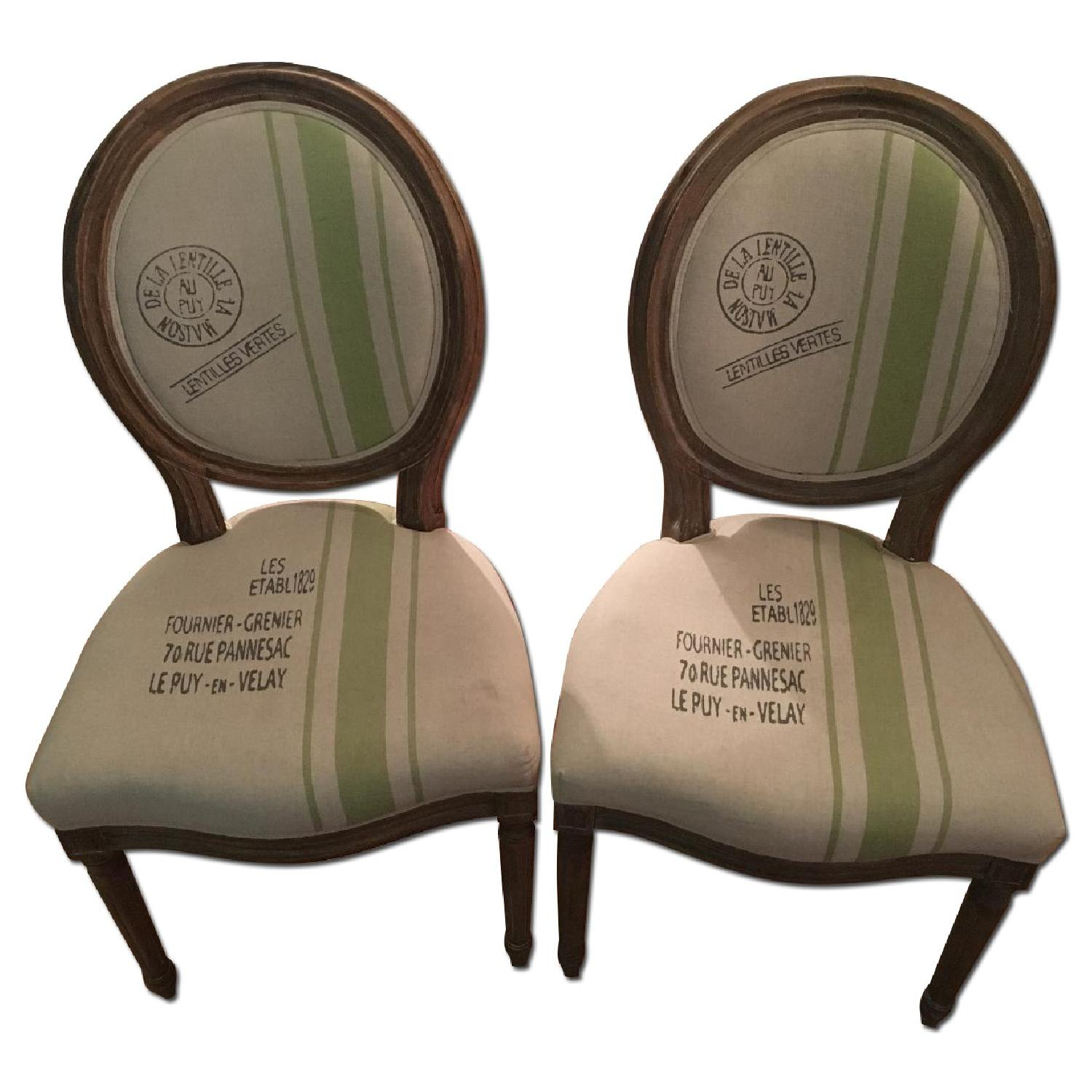 Louis XVI Boutique Design Dining Chairs - 2 Available - image-0