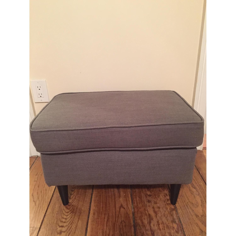 Ikea Strandmon Footstool in Nordvalla Dark Gray - image-3