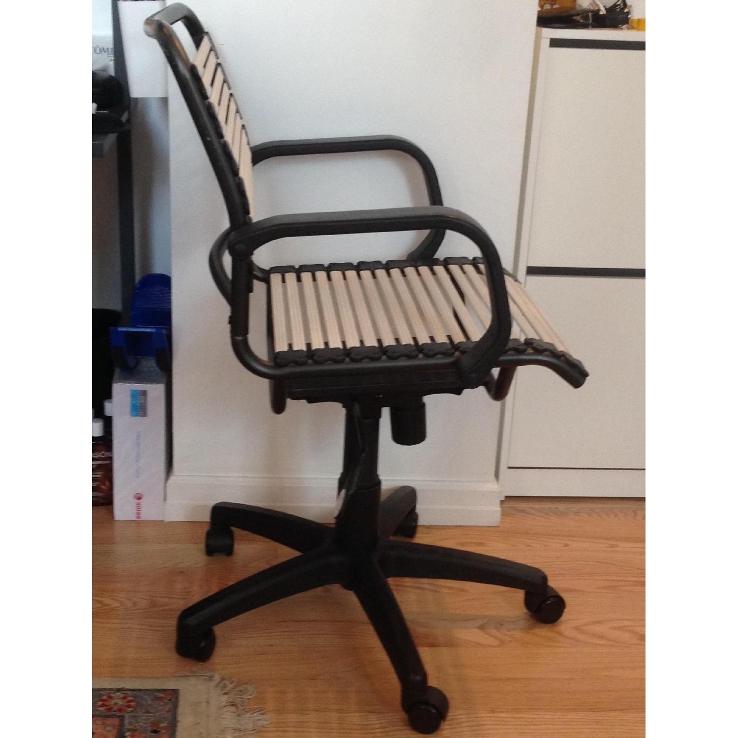 Container Store White Flat Bungee Office Chair w/ Arms - image-2