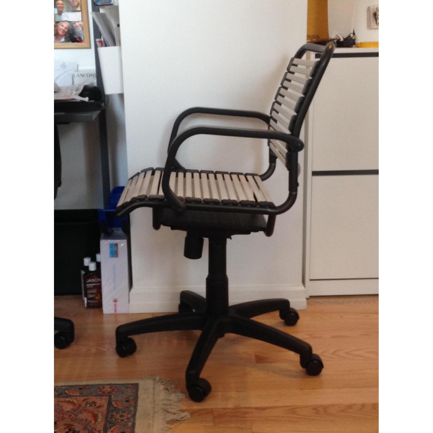 Container Store White Flat Bungee Office Chair w/ Arms - image-3