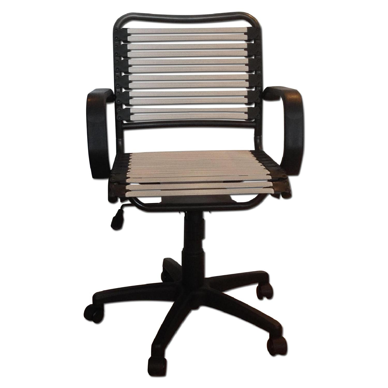Container Store White Flat Bungee Office Chair w/ Arms - image-0