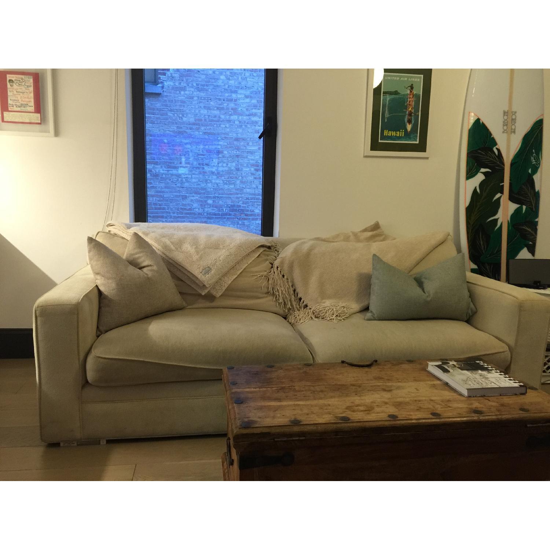 Crate & Barrel Sofa + Chair and  Half & Ottoman - image-1